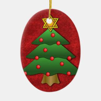 Jewish-Christmas Ceramic Ornament