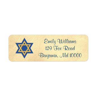 Jewish Classic Gold Star of David