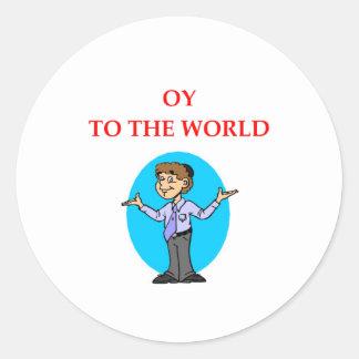 jewish classic round sticker