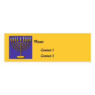 Jewish Contact Cards Mini Business Card