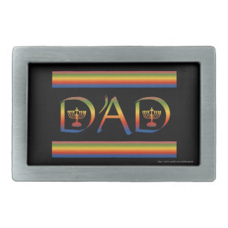 Jewish Father's Day Hebrew Happy Father's Day Rectangular Belt Buckles