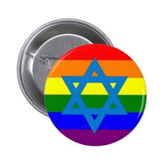 Jewish Gay Pride Flag 2 Inch Round Button