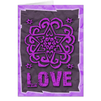 Jewish: Hearts and Star of David Mandala Love Card