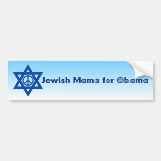 Jewish Mama For Obama Bumper Sticker 4