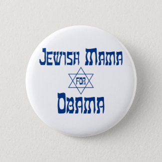 Jewish Mama for Obama Star Buttons