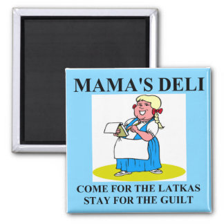 jewish mama guilt and latkes square magnet