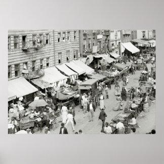 Jewish Market, NYC, 1890s Poster
