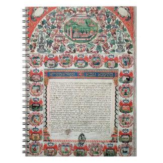 Jewish Marriage Contract (vellum) Notebook