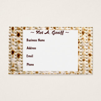 Jewish Matzoh Business Card ~ Customize!