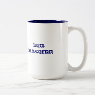 JEWISH MUG BIG MACHER BIG SHOT VIP