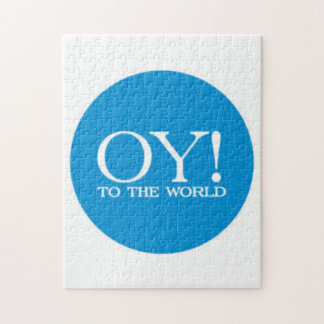 Jewish Puzzle - OY TO THE WORLD! (choose size!)