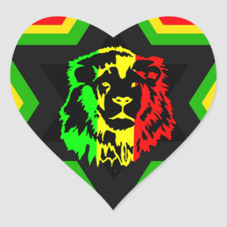 Jewish Rasta Heart Sticker