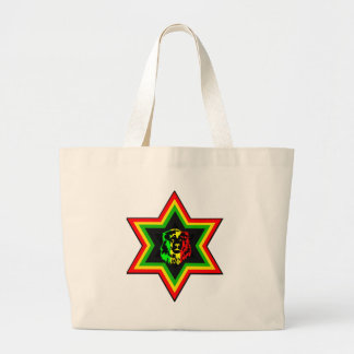 Jewish Rasta Large Tote Bag