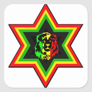 Jewish Rasta Square Sticker