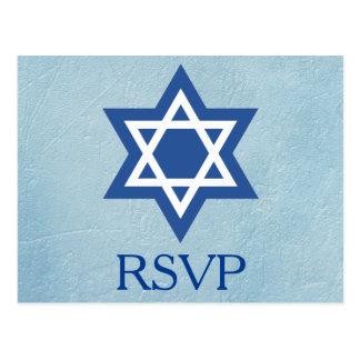Jewish RSVP Star of David Postcard