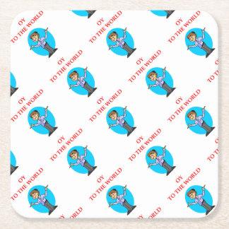 jewish square paper coaster
