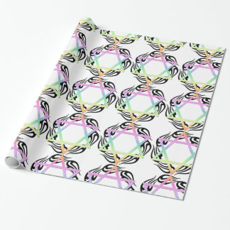 Jewish Star Colors Wrapping Paper