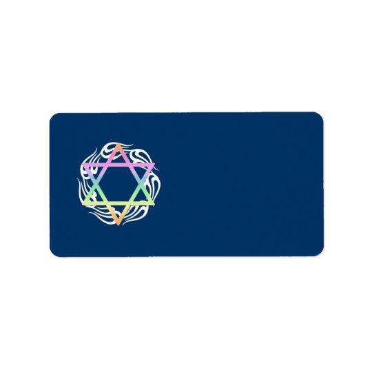 Jewish Star Colours Label