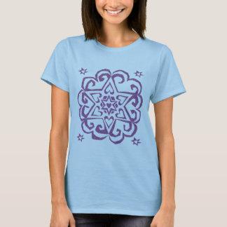 Jewish: Star of David and Hearts Mandala T-Shirt