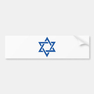 Jewish Star of David Blue Bumper Sticker