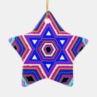 Jewish Star of David Ceramic Star Ornament