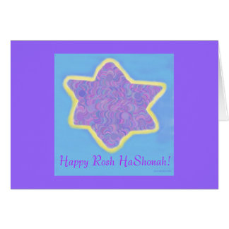 Jewish Star of David , Happy Rosh HaShonah Card