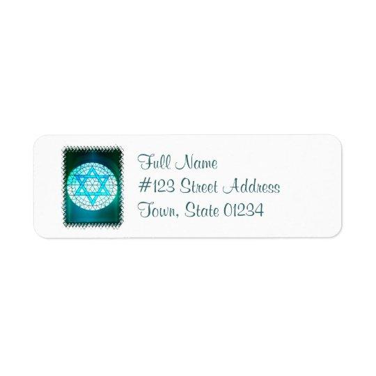 Jewish Star of David Mailing Label Return Address Label