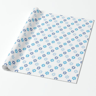 Jewish Star of David Pattern Wrapping Paper