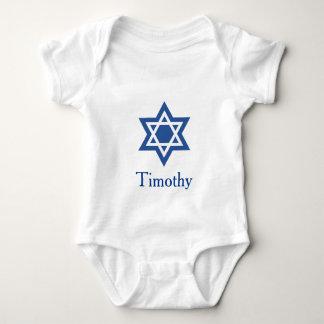 Jewish Star of David personalize Baby Bodysuit