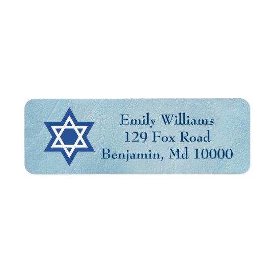Jewish Star of David Return Address Label