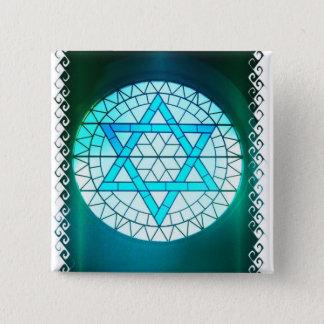 Jewish Star of David Square Pin