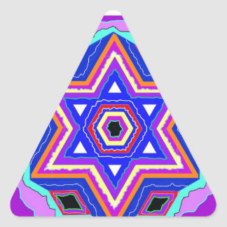 Jewish Star of David Triangle Stickers