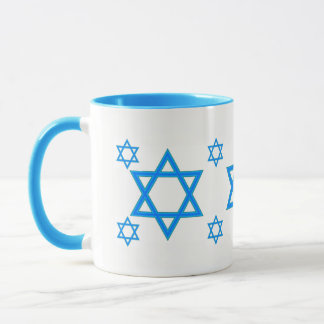 JEWISH STARS TURQUOISE GORGEOUS COFFEE MUG REDUCED