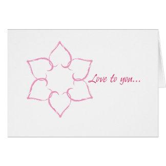 Jewish Valentine: Hearts in Star of David Greeting Card
