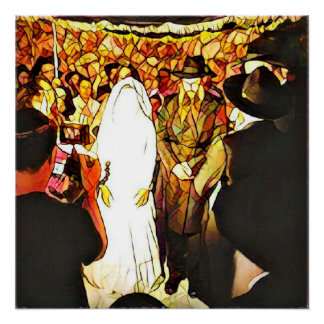 Jewish wedding ceremony perfect poster