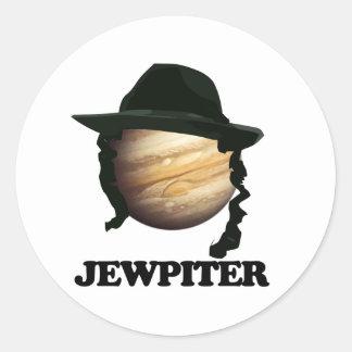 jewpiter classic round sticker
