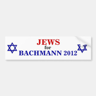 Jews for Bachmann 2012 sticker Bumper Sticker