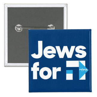 Jews for Hillary button