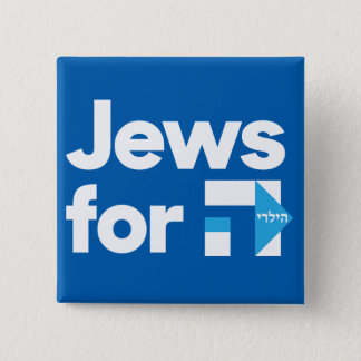 Jews for Hillary square button