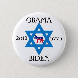 Jews for Obama Biden 2012 2 Inch Round Button