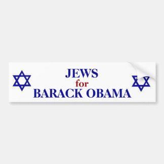 JEWS FOR OBAMA BUMPER STICKER