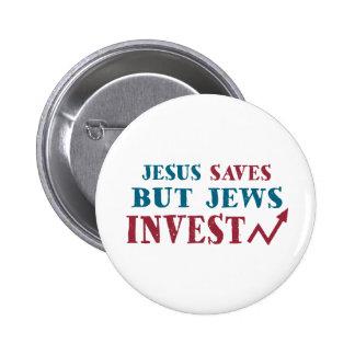 Jews Invest - Jewish finance humor 2 Inch Round Button