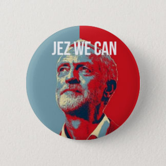 #JezWeCan - Jeremy Corbyn 4 PM badge 2 Inch Round Button