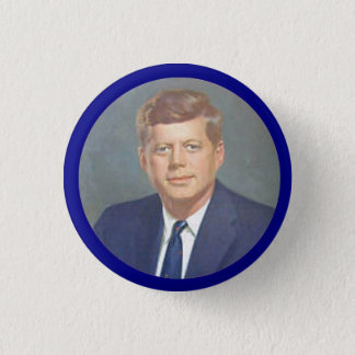JFK 1 INCH ROUND BUTTON