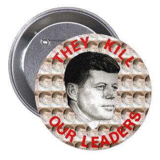 JFK 3 INCH ROUND BUTTON