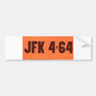 JFK 464 License Style Bumper Sticker