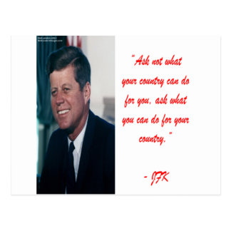 JFK & Ask Not Quote Postcard