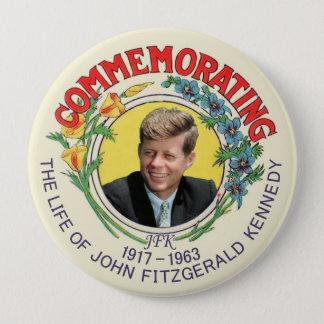 JFK Commemoration 4 Inch Round Button