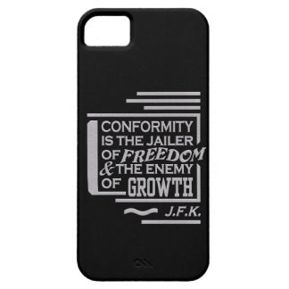 JFK Conformity Quote iPhone 5 Case-Mate, customize iPhone 5 Cover