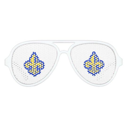 JFK Fleur de Lis Glasses Party Shades